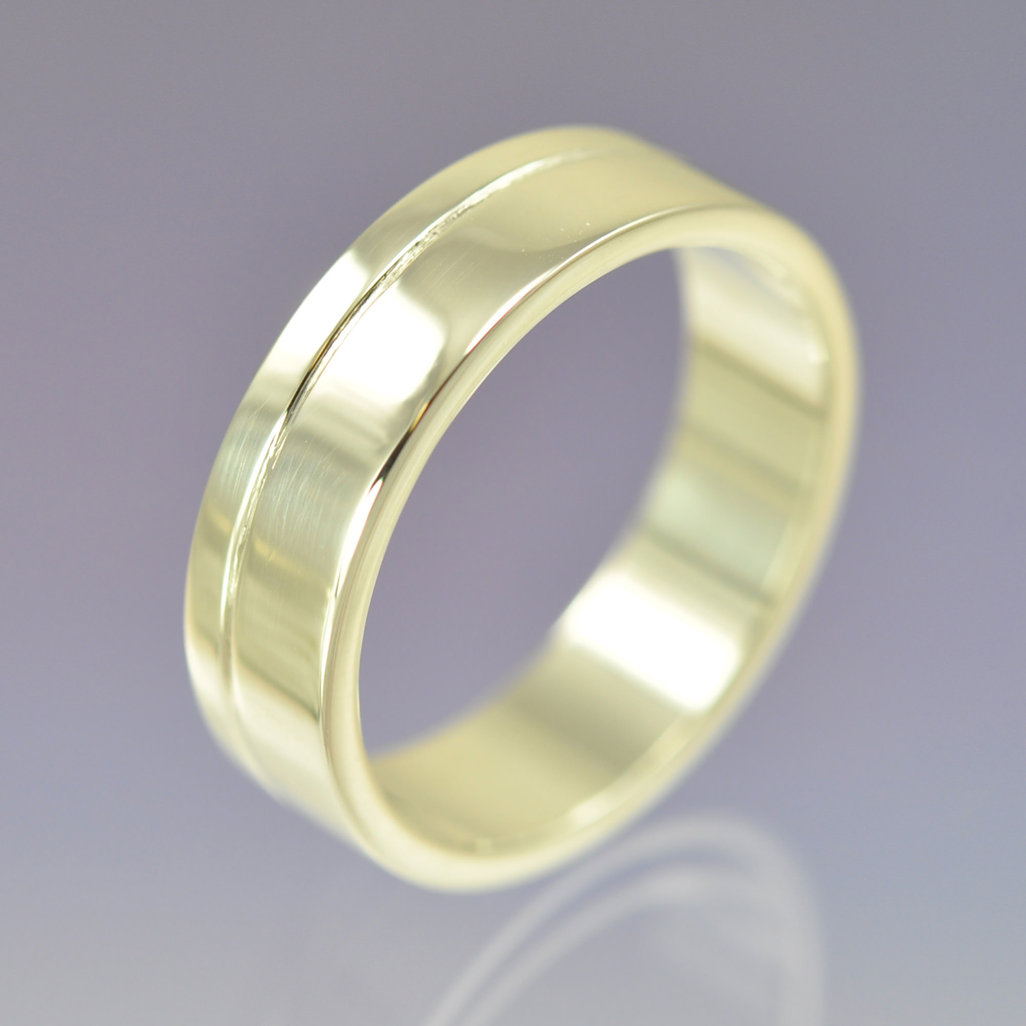 your recycled wedding flat rings media hers made and yellow brushed sizes band in his set ring gold