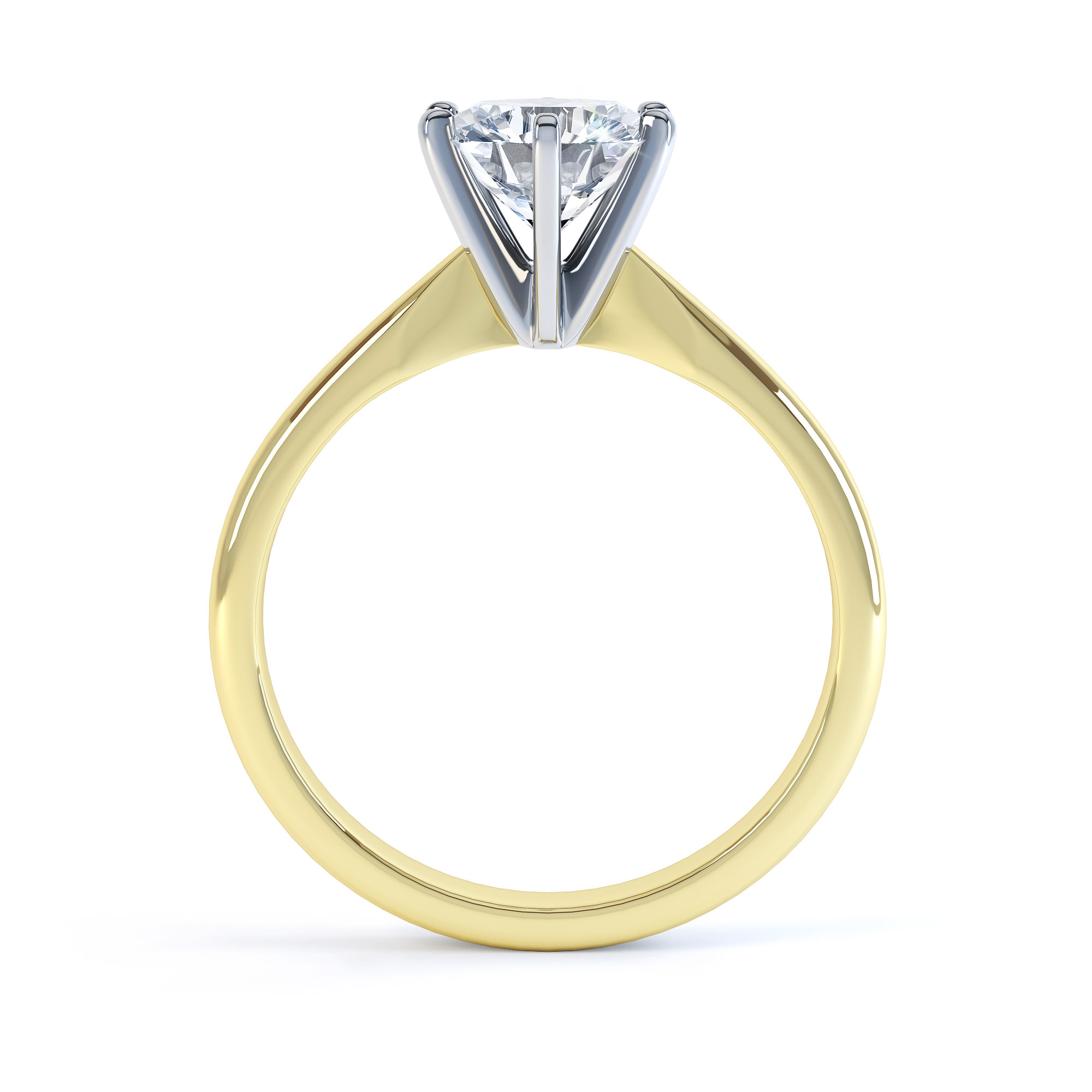6 Claw Open Solitaire Diamond Ring
