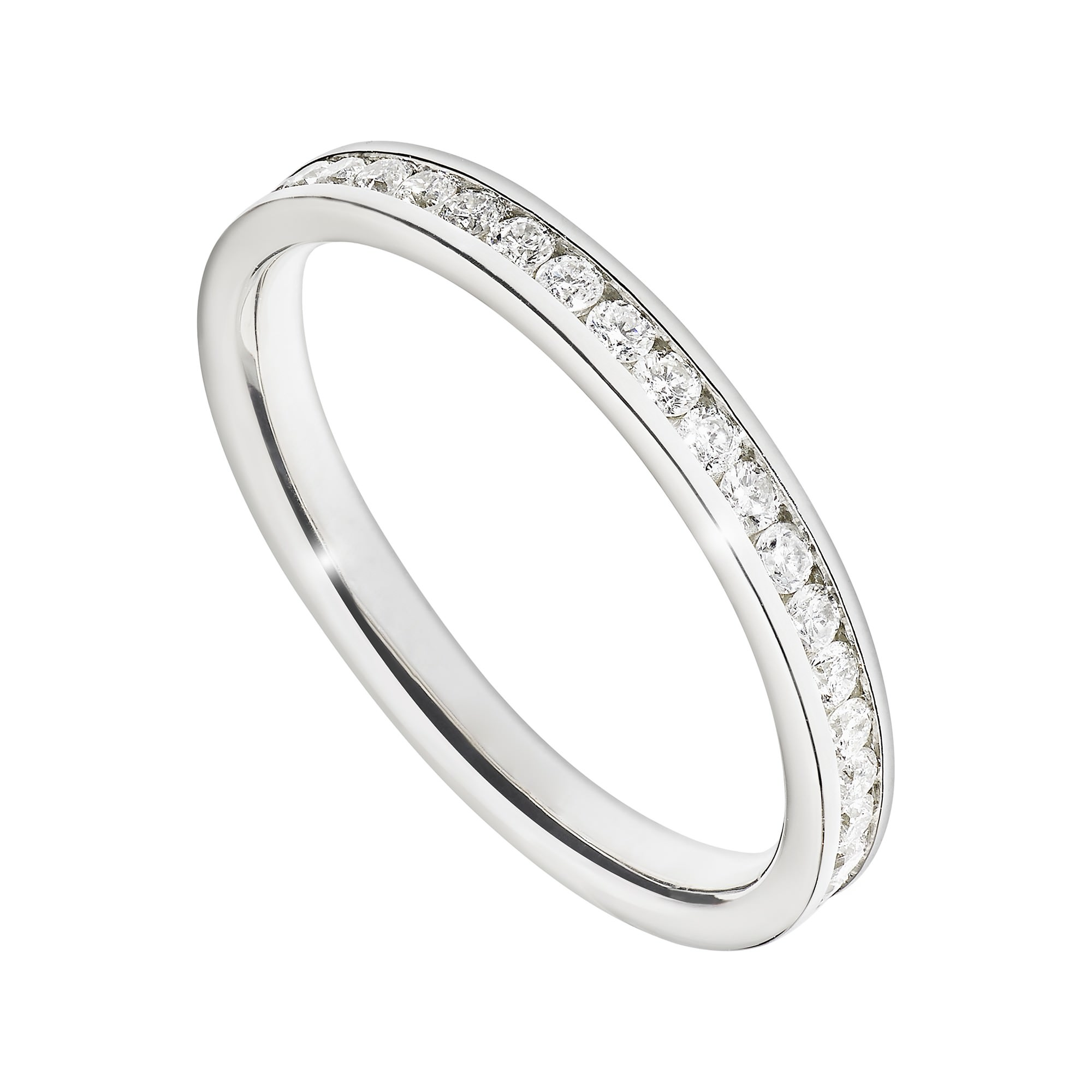 channel set ring for wedding