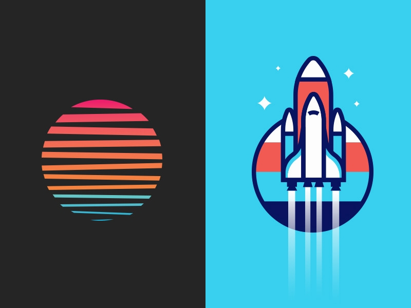 Rocket Logo Design for Apparel