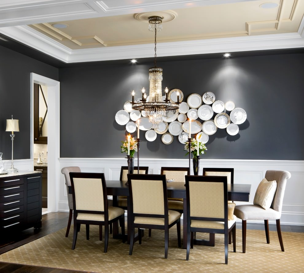 modern dining room wall decor. Plates Designed Wall Decor in Dining Space 29 Designs Ideas for room Design  Trends The Best 100 Modern Room Image Collections