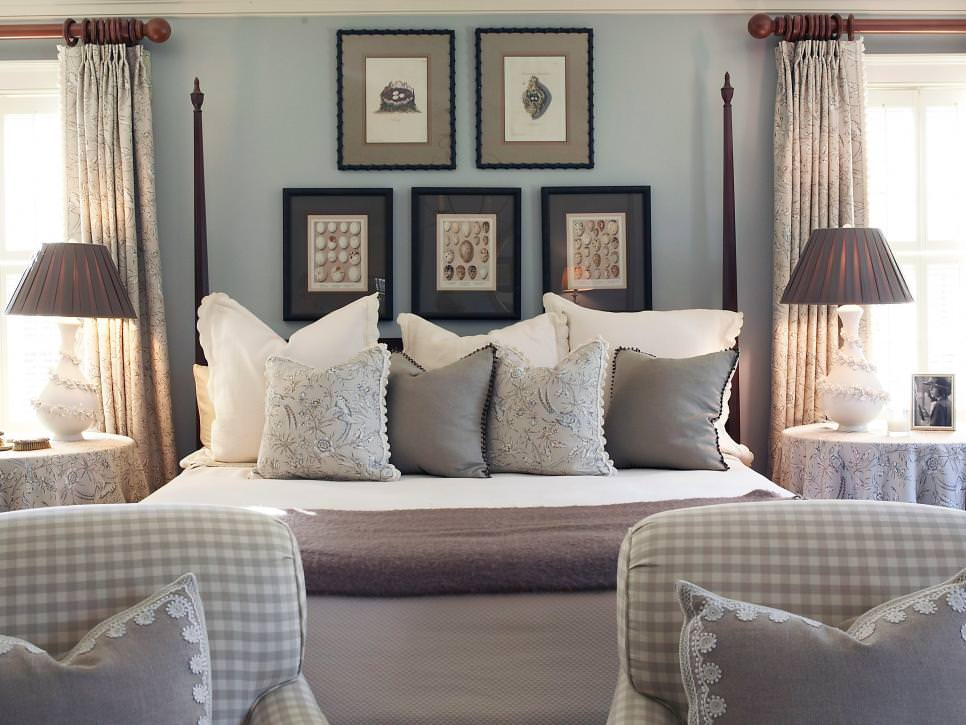 Egg Blue Bedroom With Gray Accents