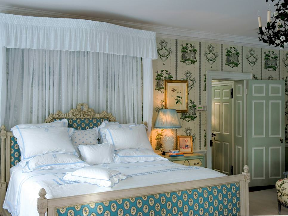 Elegant Bedroom With French Wall accent
