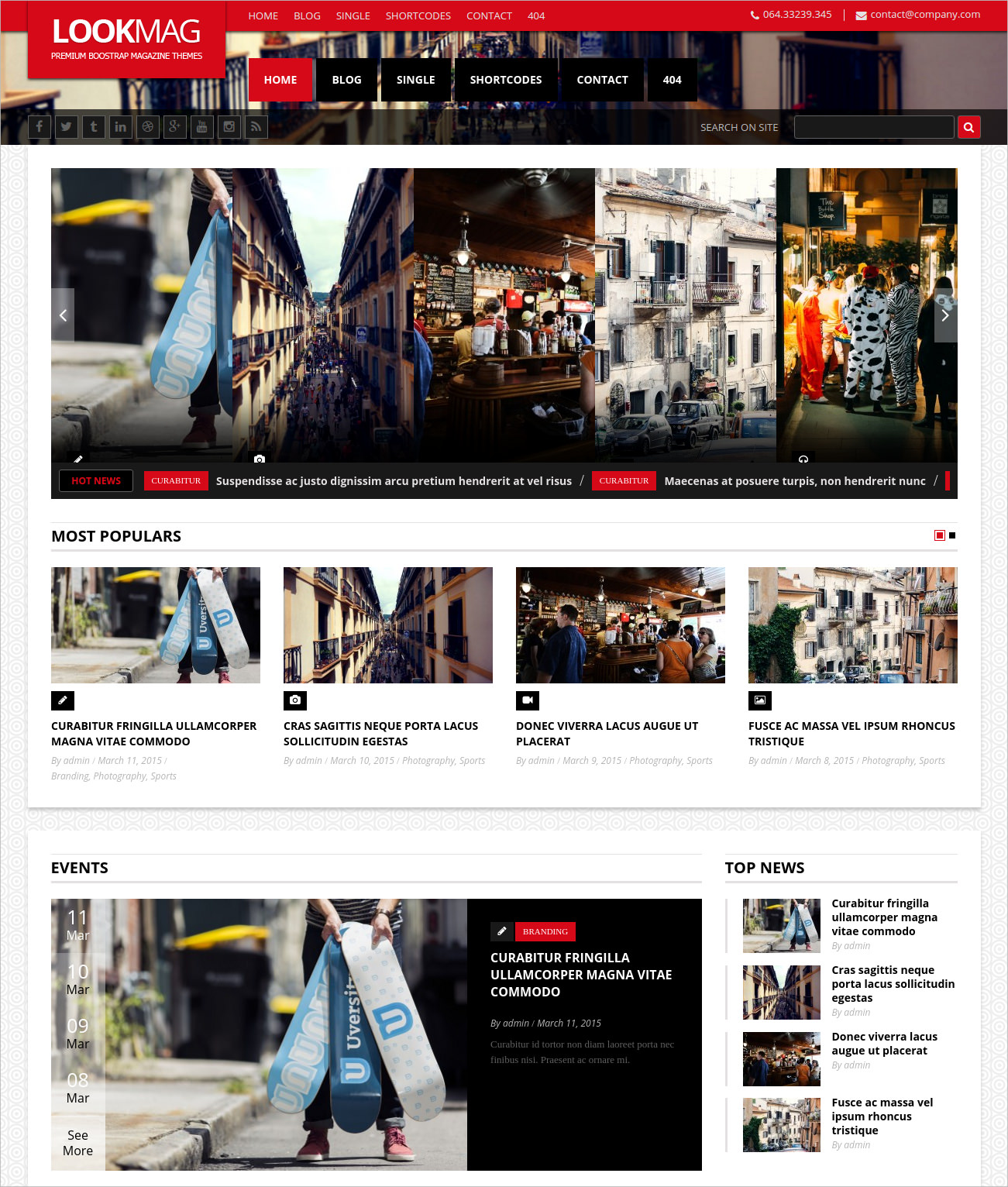 WordPress Newspaper Theme