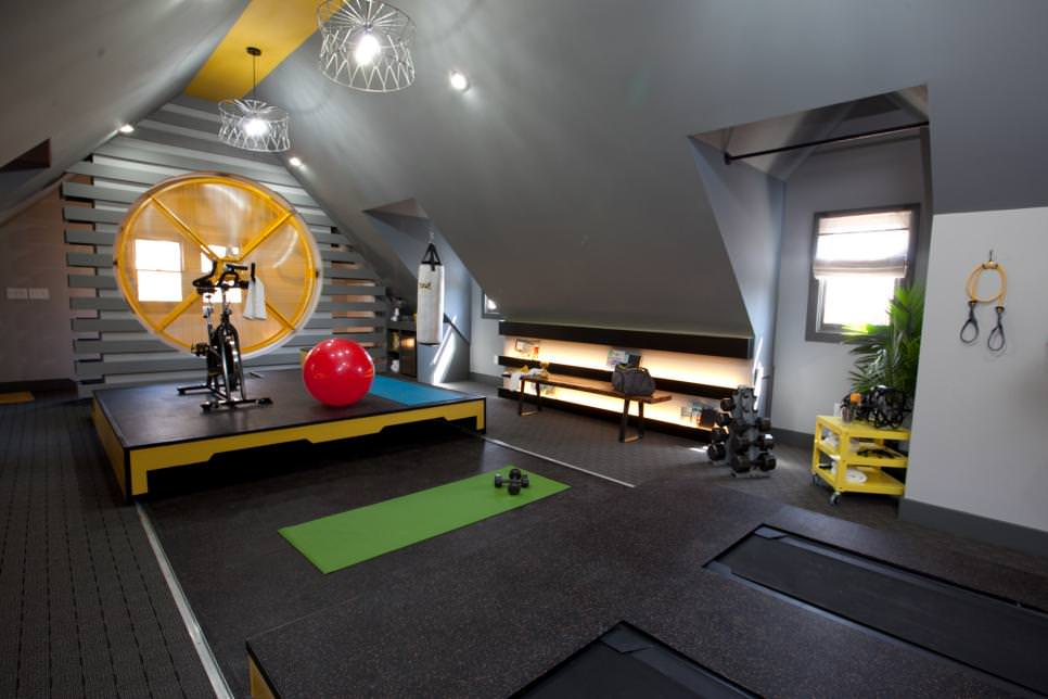 Attic Home Gym model