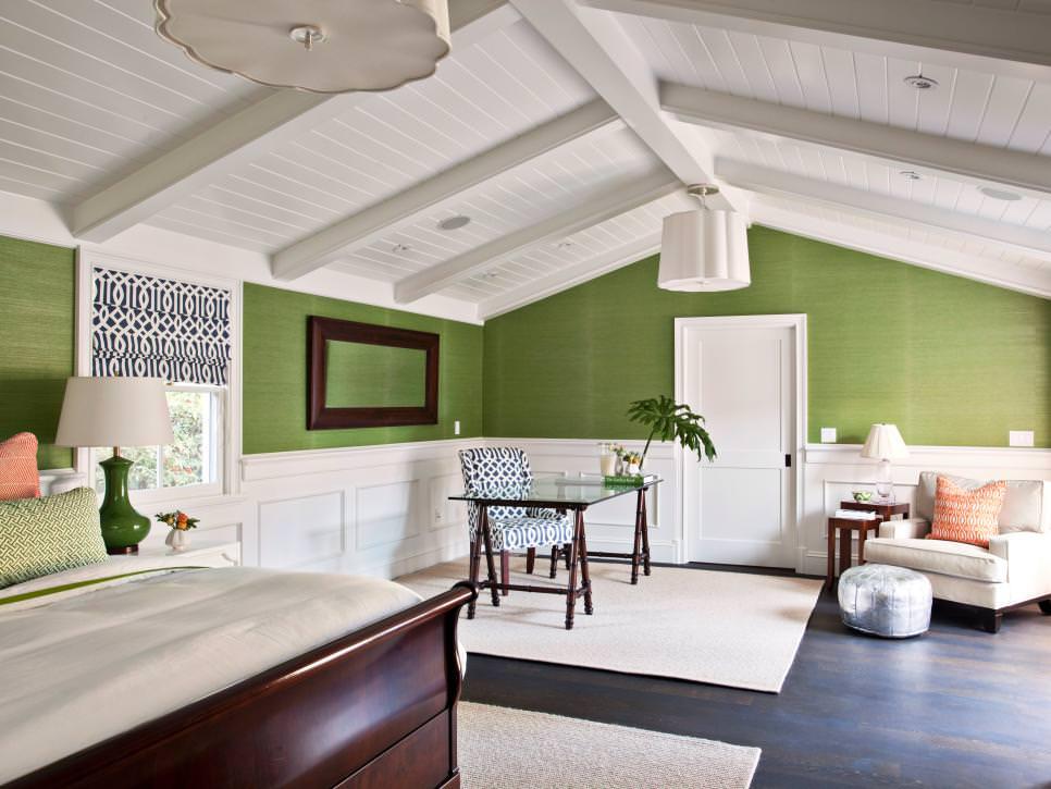 Attic Transformed Into Tropical Bedroom design