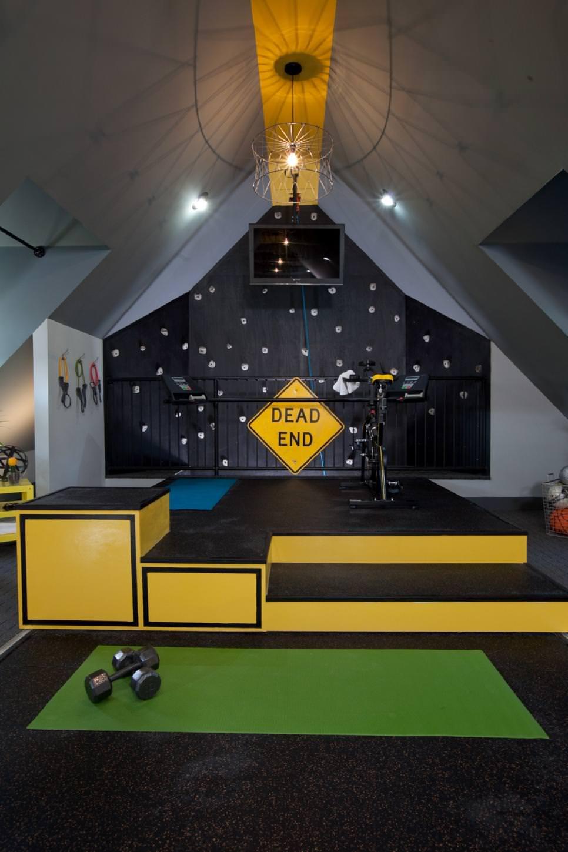 Remodeled Attic Gym idea