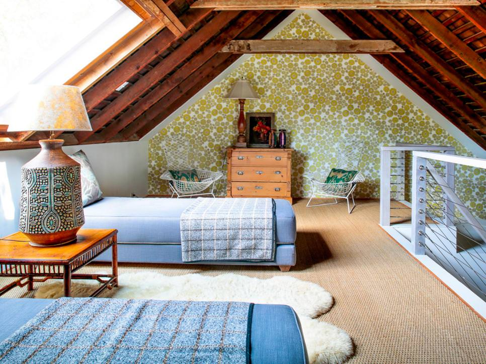 Rustic Attic Bedroom plan