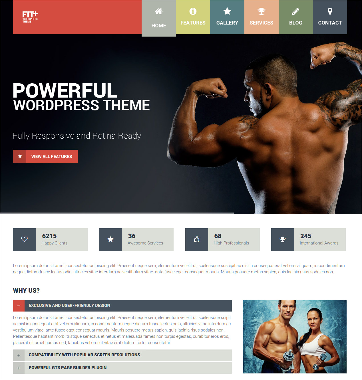 Classic Fitness WP Theme