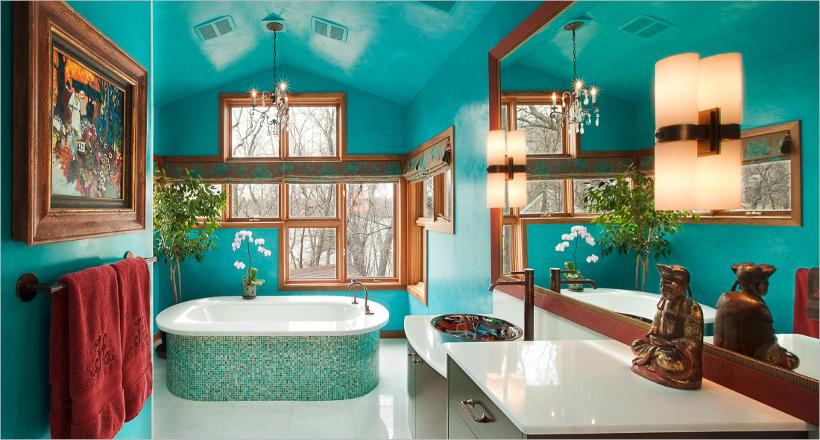 Amazing Turquoise Bathroom Designs