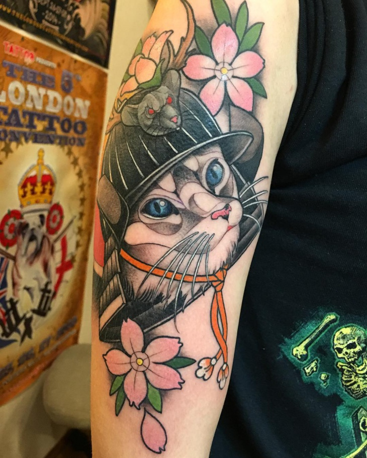 Unique Cat Tattoo Design