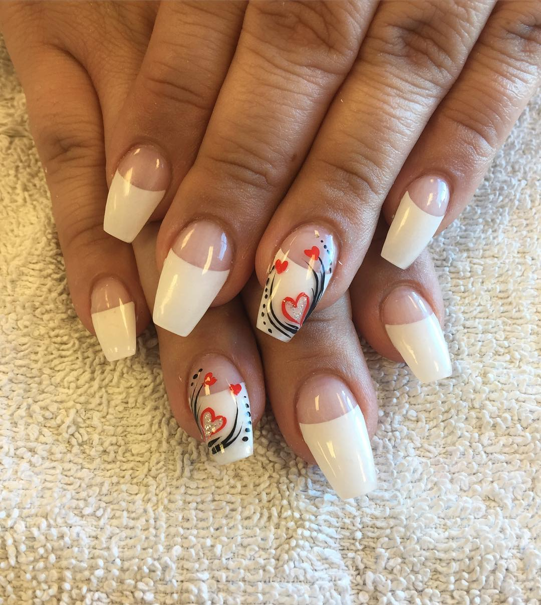 20+ White Tip Nail Art Designs, Ideas