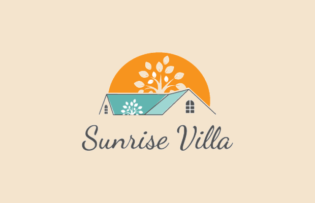 Sun Logo Design for Real Estate
