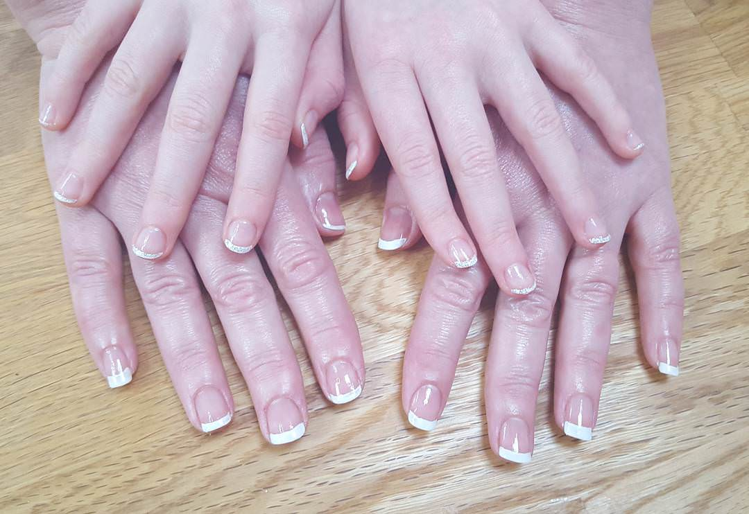 fantastic white tip nail design