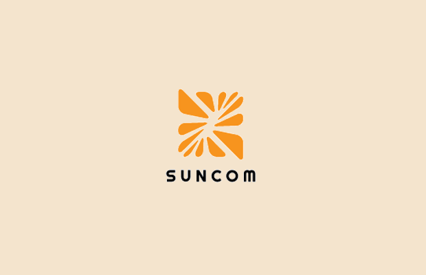 sun logo design for communications