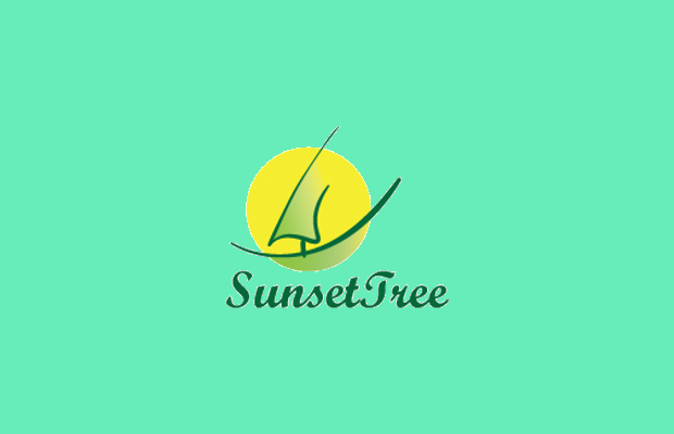 sunset tree logo design1