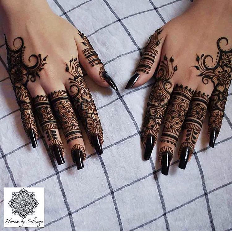 Mehndi Designs Back Side Simple : Henna designs ideas design trends