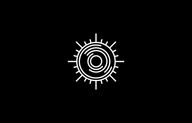 Lined Sun Logo Design