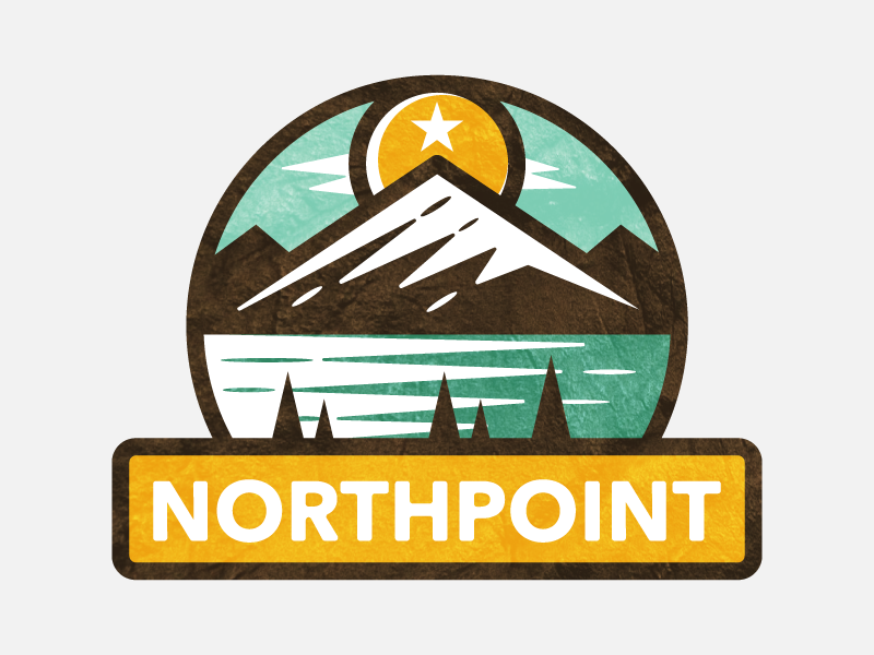 north point sun logo design