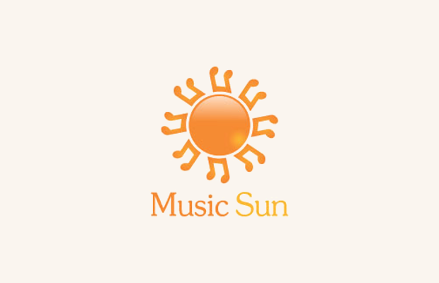 Music Sun Logo Design