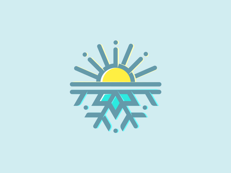 Sun Logo Design for Resort