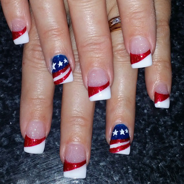 31+ Patriotic Nail Art Designs, Ideas