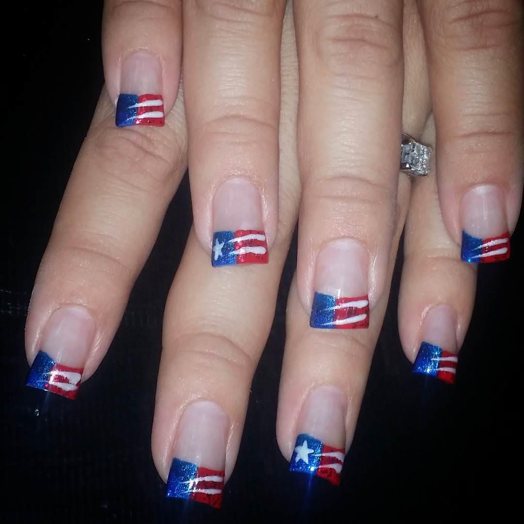 Colorful Patriotic Nail Design