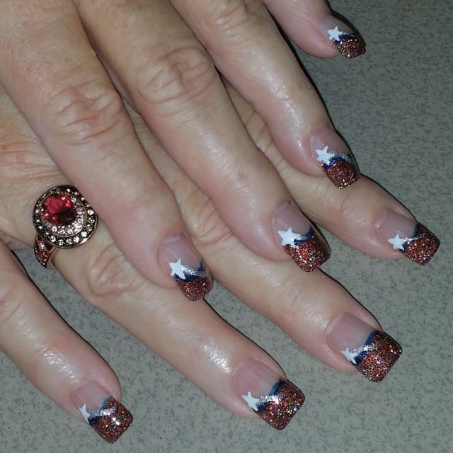 Nice Patriotic Design with Glitter