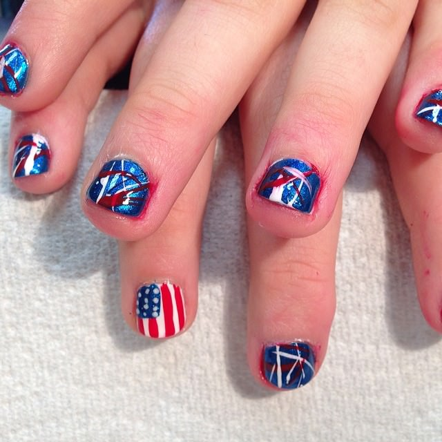 Awesome Patriotic Nail Design