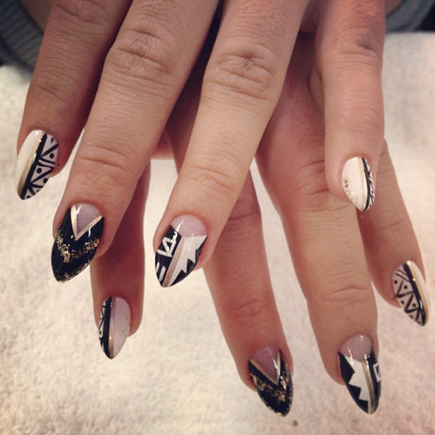 25 pointy nail art designs ideas design trends premium psd amazing pointy nail design prinsesfo Choice Image