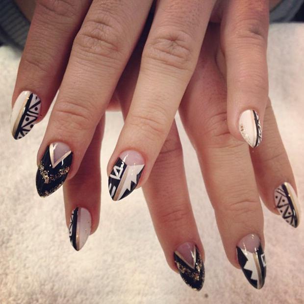 amazing pointy nail design