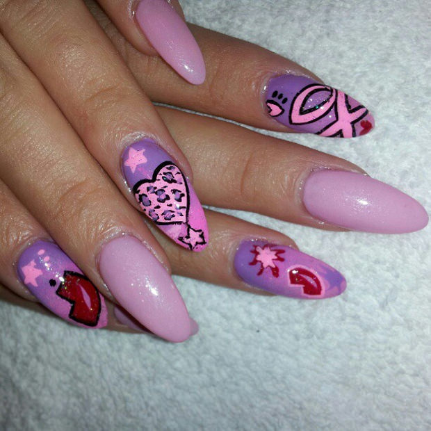 Love Pointy Nail Design