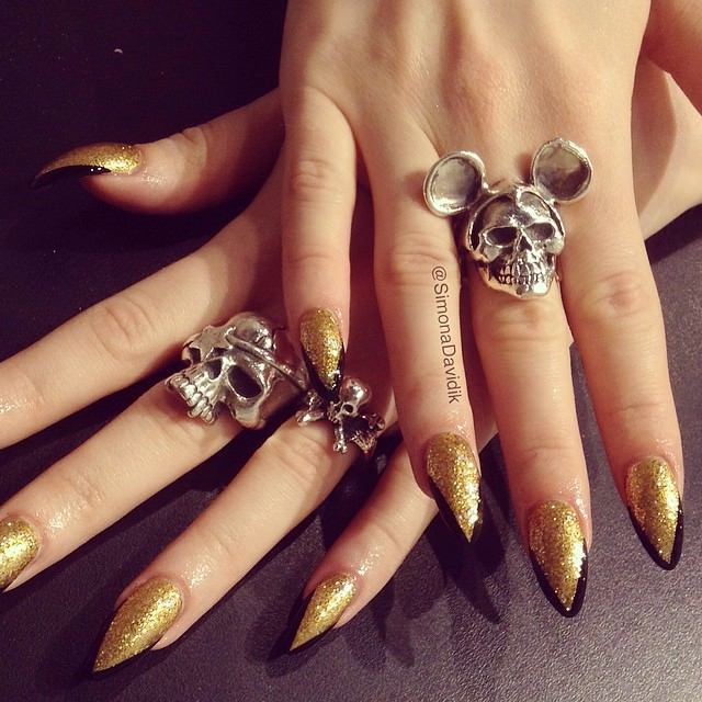 Beautiful Pointy nail Design