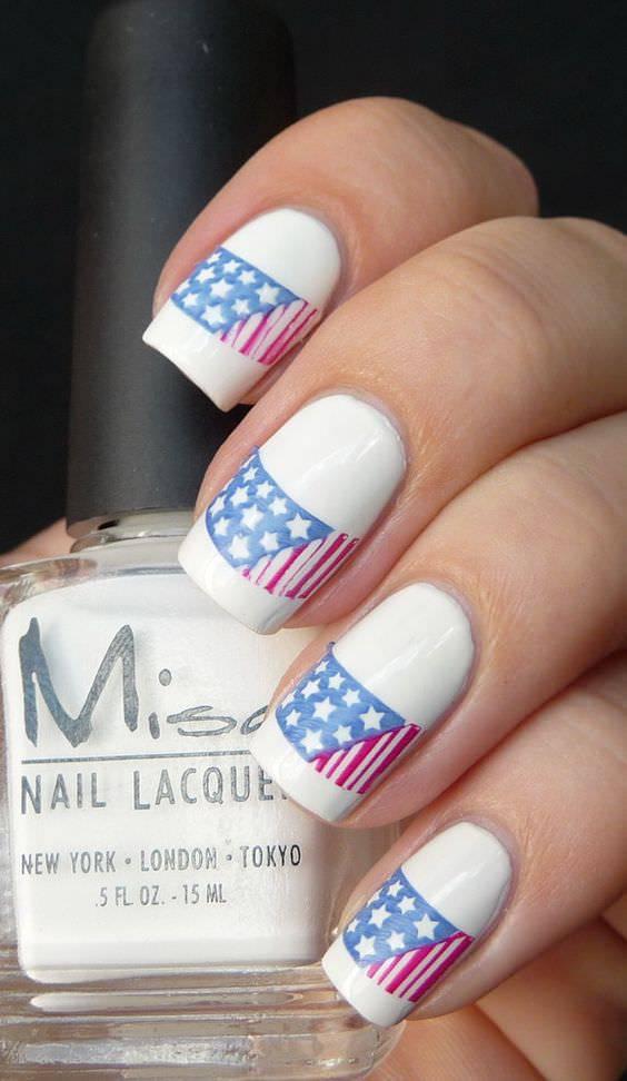 Pretty Patriotic Nail Design