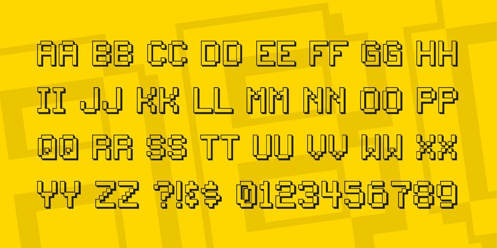 1980 drop shadow font