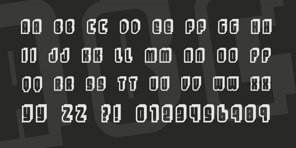 Funky Shadowed Font