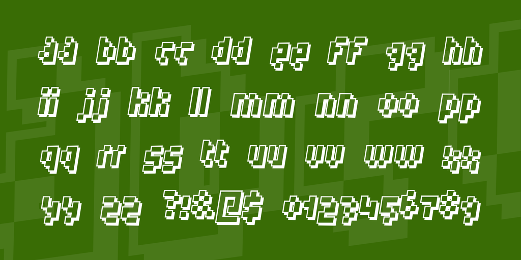 Robotic Shadowed Font Style