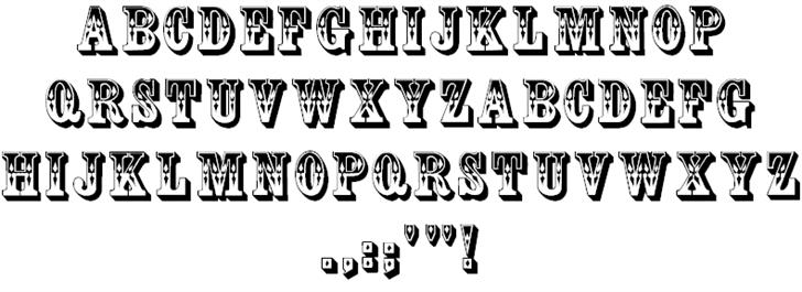 two tone drop shadow font