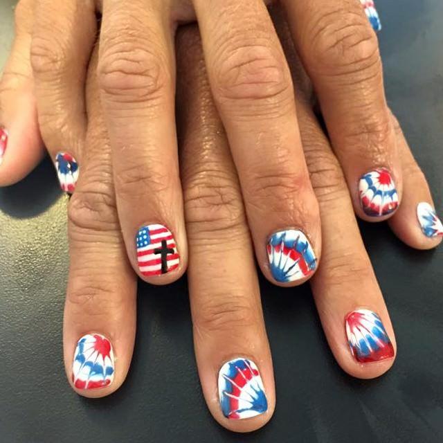 Patriotic Colorful Nail Design