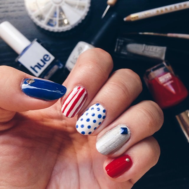 new patriotic nail design