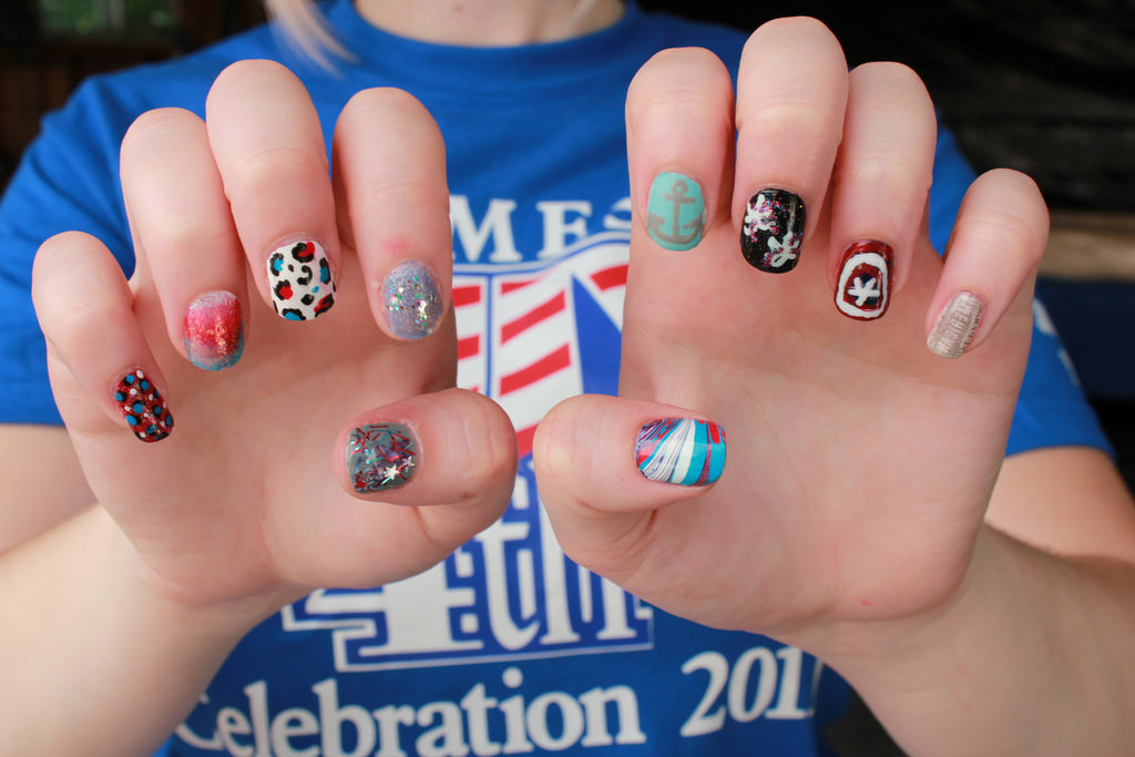 Types of Patriotic Nail Art