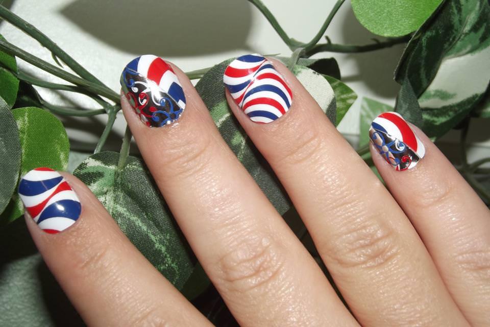Patriotic Nail Art Designs