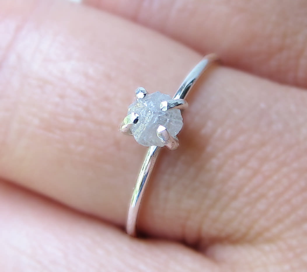 uncommongoods rough uncut rings ring solitaire thumbnail diamonds diamond product