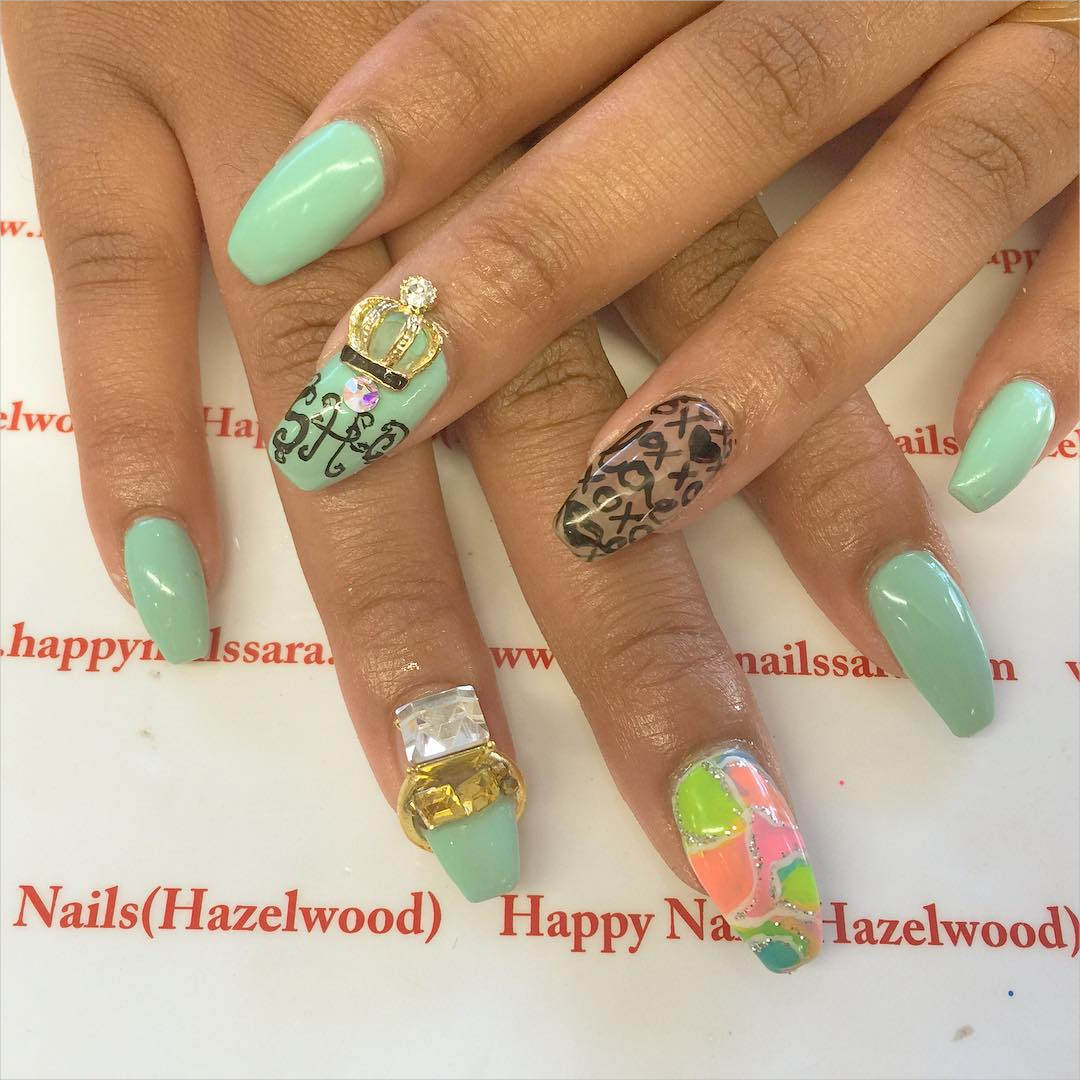 Lovely 3 D Nail Designs