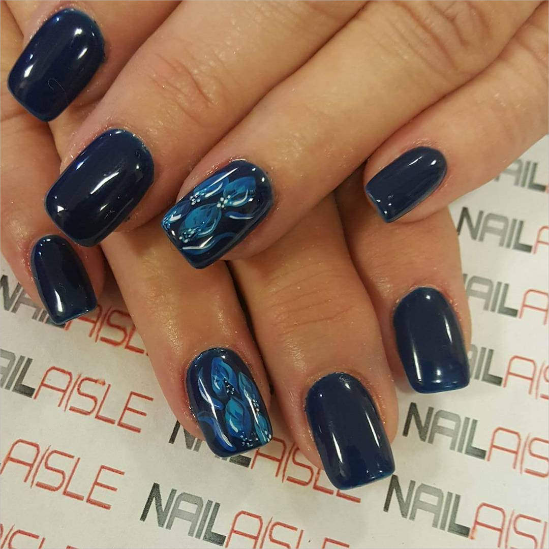 Navy Nail Designs | Graham Reid