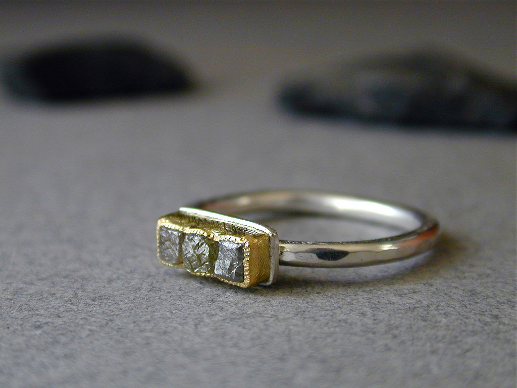 Glittering Raw diamond Ring