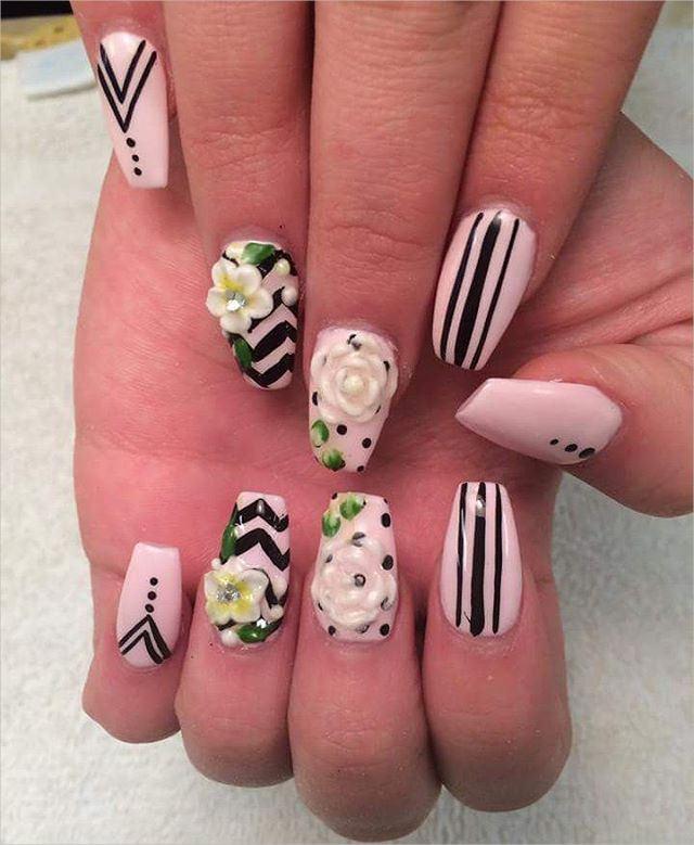 Fashionable 3 D Nail Designs