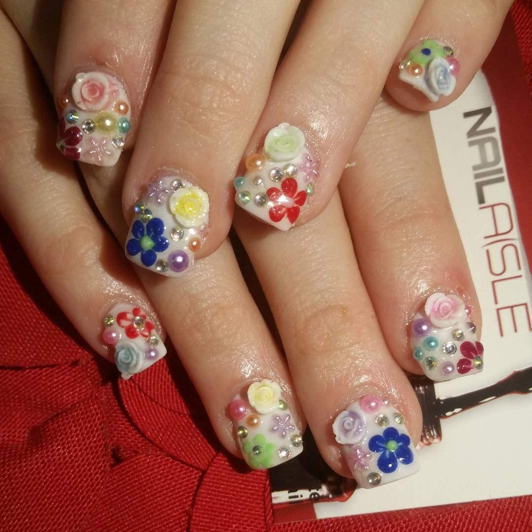 cute 3 d nail designs