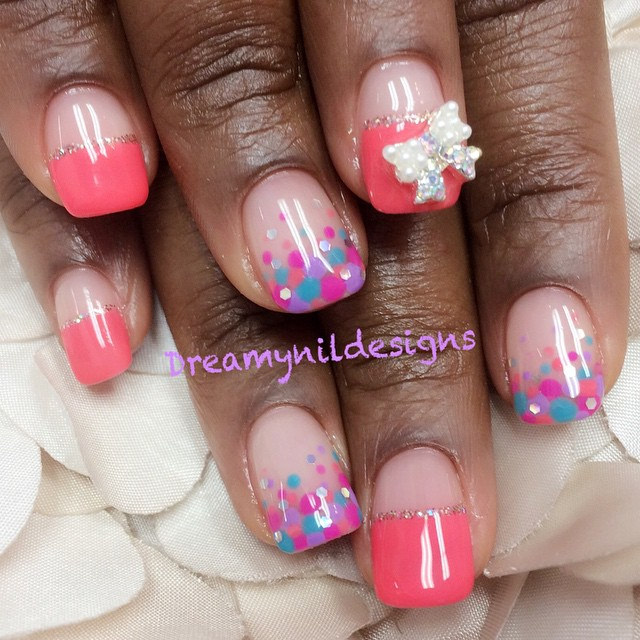 dotted 3 d nail designs