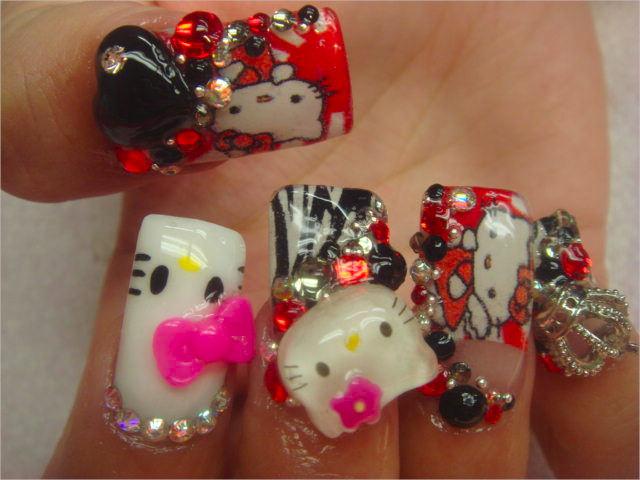 Tweety 3 D Nail Designs